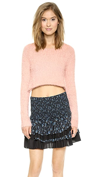 For Love & Lemons Knitz Ski Bunny Crop Sweater