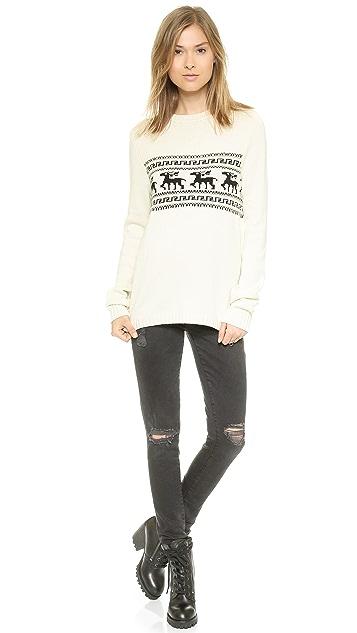 For Love & Lemons Knitz Alpine Pullover Sweater