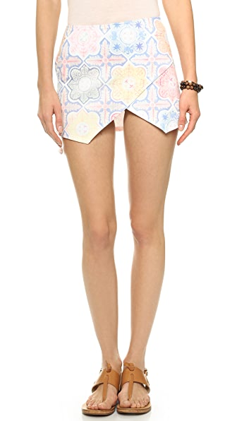 For Love & Lemons Ole Miniskirt