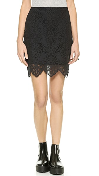 For Love & Lemons Midnight Miniskirt