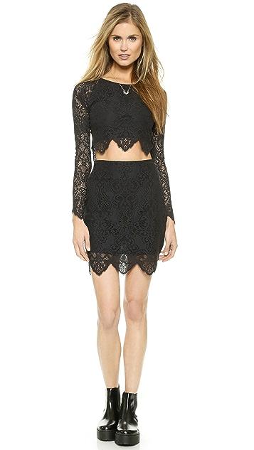 For Love & Lemons Midnight Miniskirt