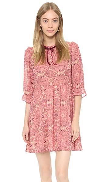 For Love & Lemons Geneva Mini Dress - Sienna Print