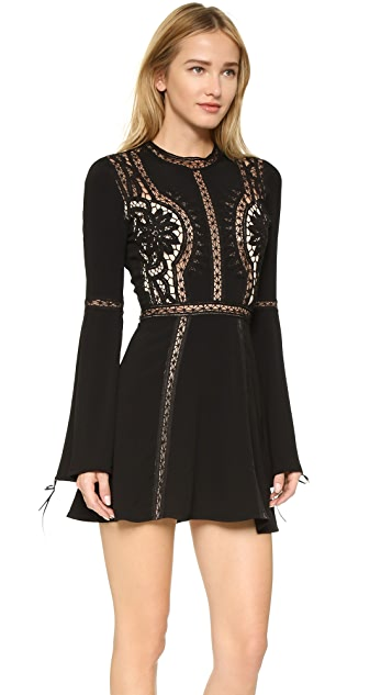 For Love & Lemons Penelope Mini Dress