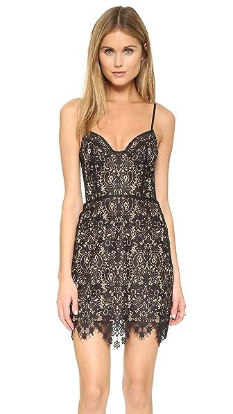 For Love & Lemons Vika Mini Dress - Black