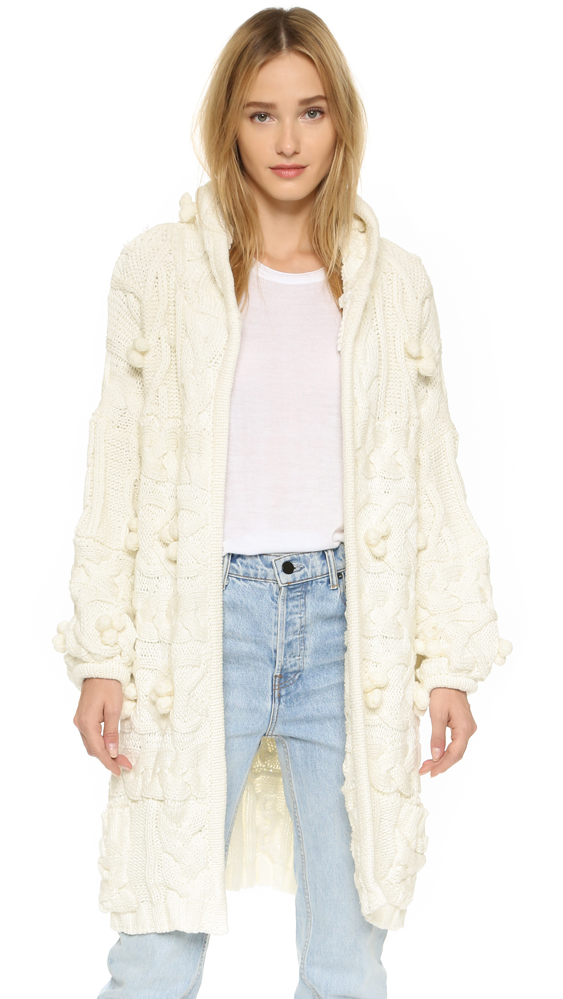 For Love & Lemons Braided Cable Hooded Cardigan   SHOPBOP