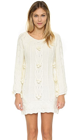 For Love & Lemons Braided Cable Mini Dress