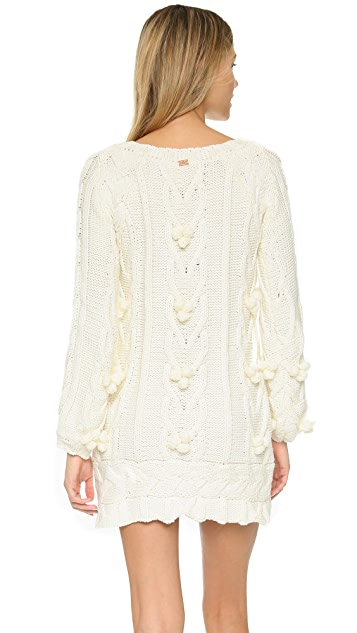 For Love & Lemons Braided Cable Mini Dress