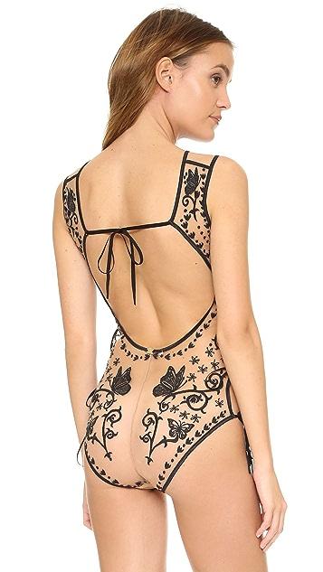 For Love & Lemons Karina Butterfly Bodysuit