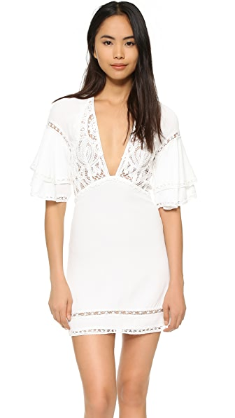 For Love & Lemons Carmine Mini Dress - White
