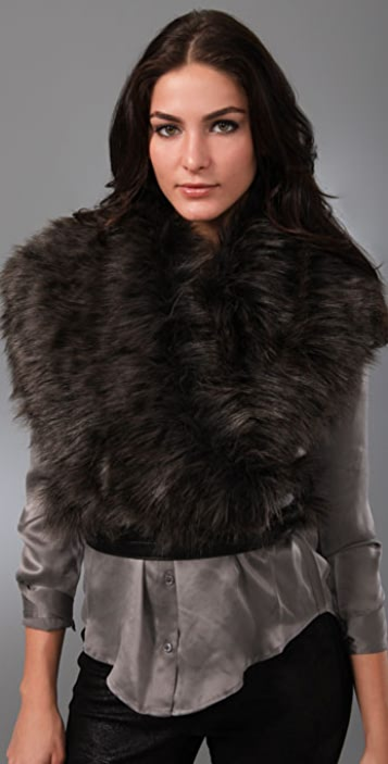 Foley + Corinna Faux Fur Wrap