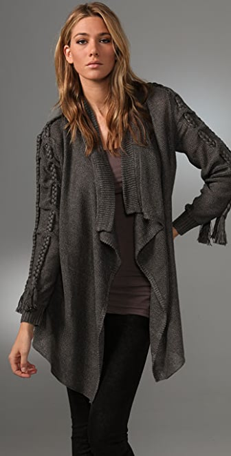 Foley + Corinna Braided Linen Cardigan