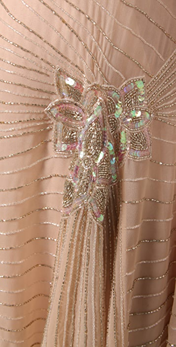 Foley + Corinna Beaded Godet Dress