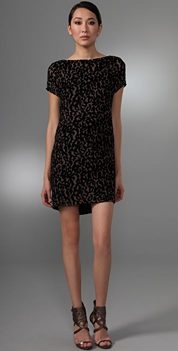 Foley + Corinna Burnout Leopard Dress