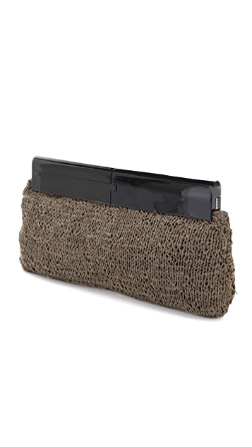 Foley + Corinna Knit Leather Clutch
