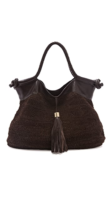 Foley + Corinna Knit Leather City Tote