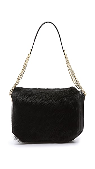 Foley + Corinna Plated Shearling Shoulder Bag