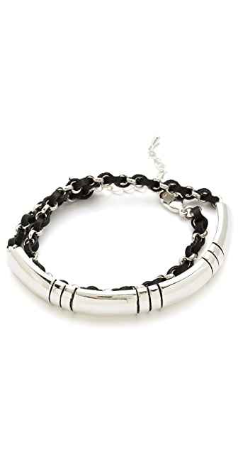 Fortune Favors the Brave Stripe Wraparound Bracelet
