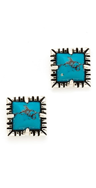 Fortune Favors the Brave Notched Stud Earrings