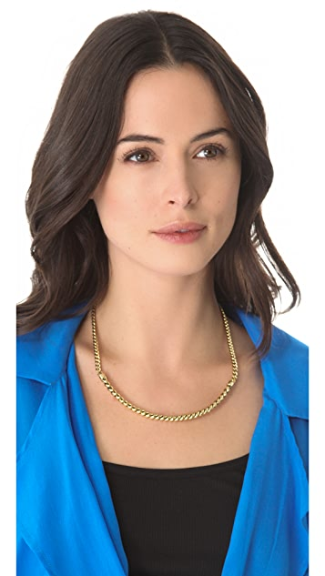 Fortune Favors the Brave Rope Collar Necklace