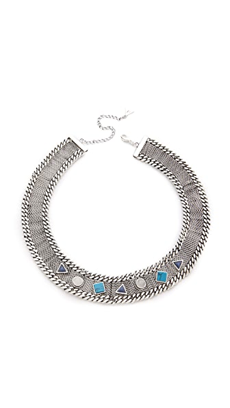 Fortune Favors the Brave Geo Stone Collar Necklace