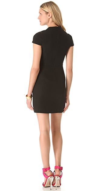 4.collective Basket Weave Cap Sleeve Dress
