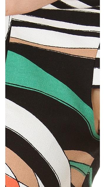 4.collective Wave Cap Sleeve Dress