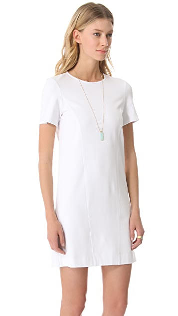 4.collective Ponte Short Sleeve A Line Dress