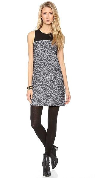 4.collective Leopard Sleeveless Shift Dress