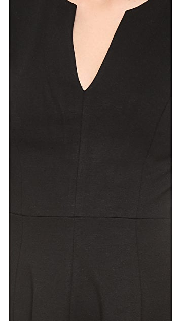4.collective Split Neck Flirty Dress