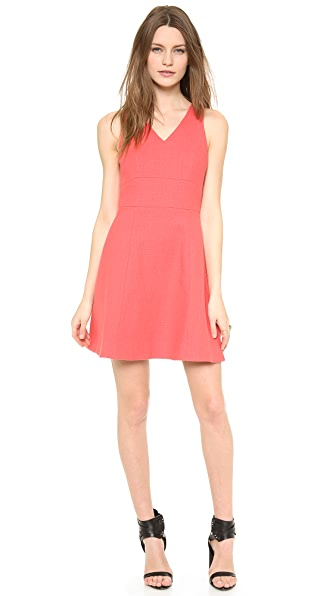 4.collective V Neck Flirty Yoked Dress