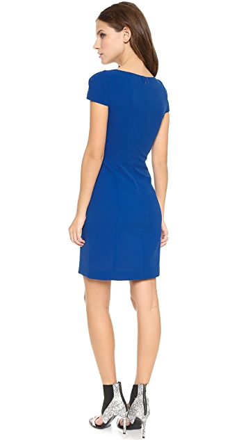4.collective Cap Sleeve Fitted Dress