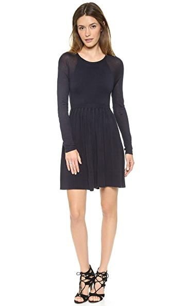 4.collective Pleated Long Sleeve Sweater Dress