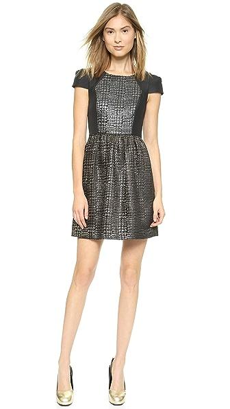 4.collective Lurex Herringbone Dress