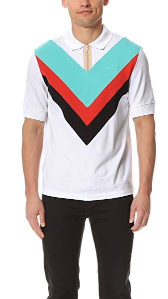 Fred Perry by Raf Simons Wide Chevron Pique Shirt