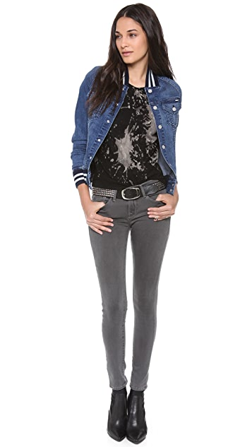 FRAME Le Luxe Noir Skinny Jeans