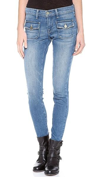 FRAME Le Skinny Crop Flat Pocket Jeans