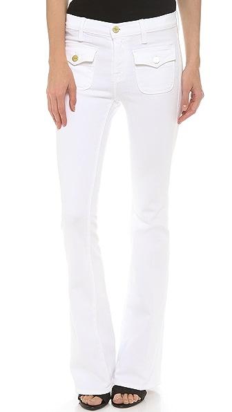 FRAME Le High Flare Flap Pocket Jeans