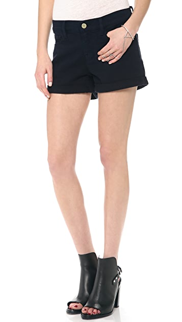 FRAME Le Rolled Cutoff Shorts