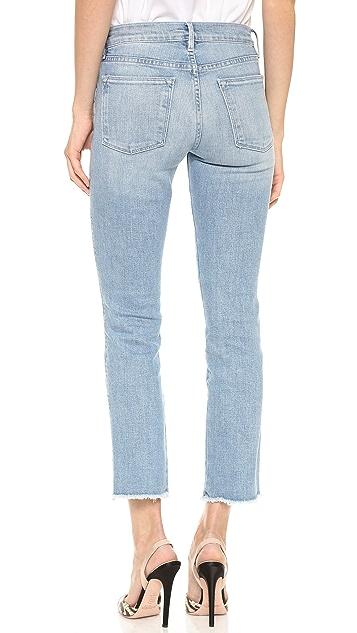 FRAME Le High Raw Edge Straight Jeans