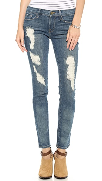 FRAME Le Skinny Distressed Jeans