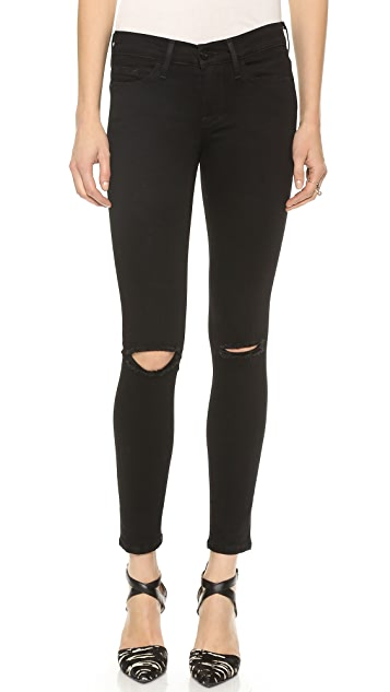 FRAME Le Skinny Satine Ripped Jeans
