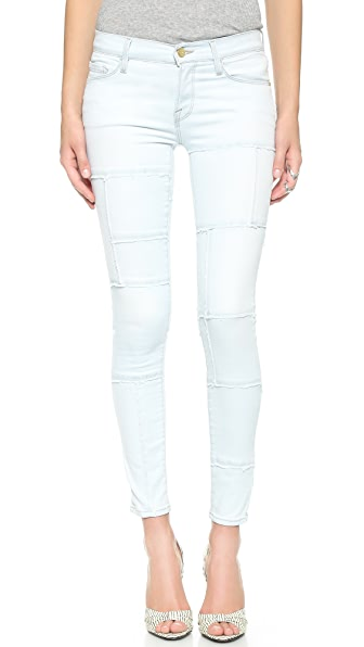FRAME Le Skinny Panel Jeans