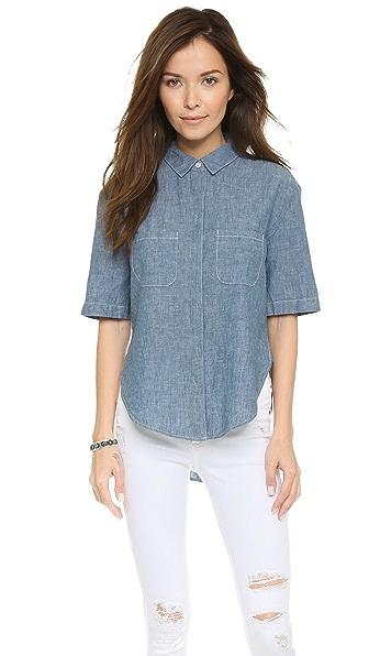 FRAME Le Elbow Button Shirt