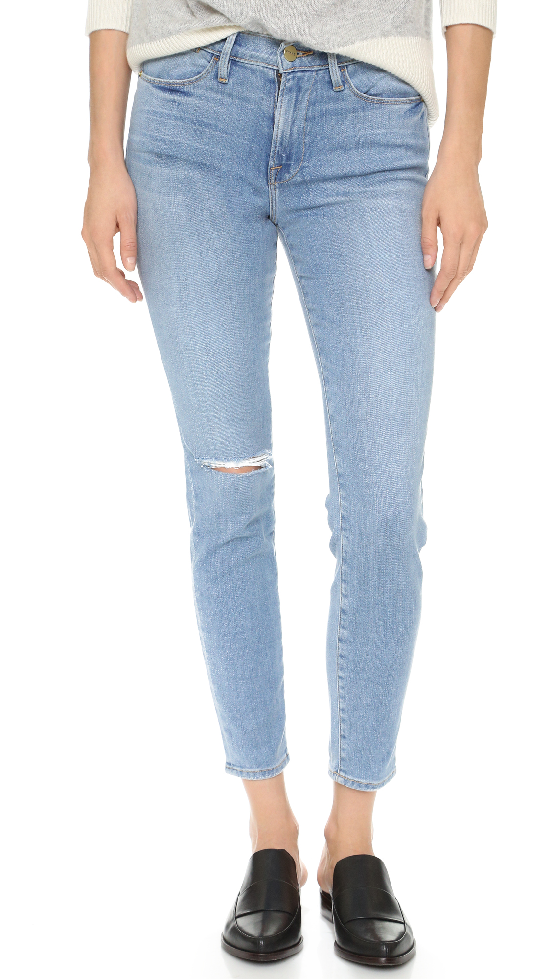 FRAME Le High Skinny Jeans | 15% off first app purchase with code ...