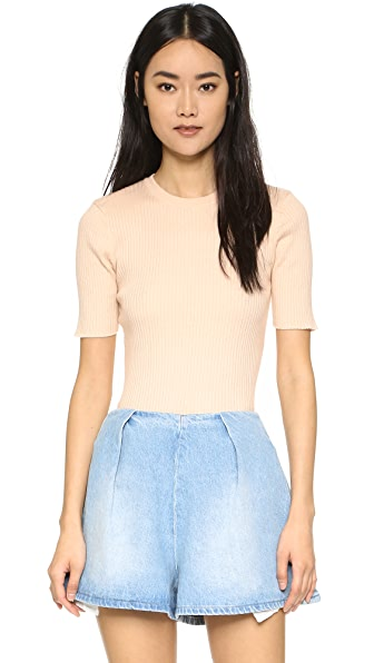 FRAME Le Crew Sweater In Nude