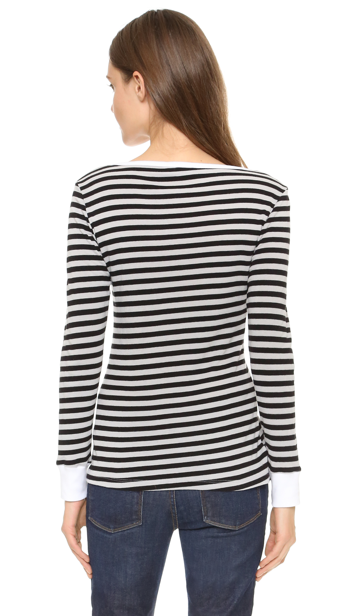 FRAME Le Boat Neck Long Sleeve Tee | SHOPBOP