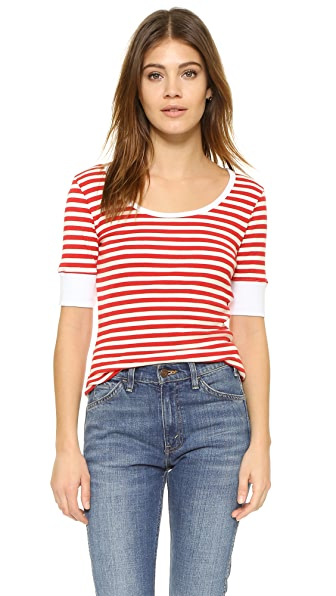 Frame Le Stripe Tee - Red Stripe
