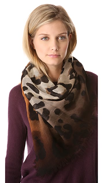 Franco Ferrari Animal Print Scarf