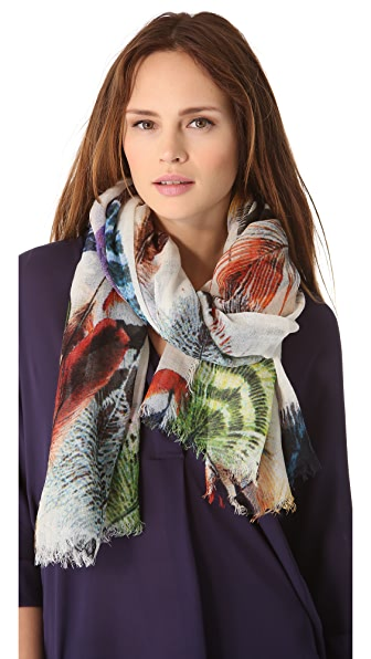 Franco Ferrari Feather Scarf