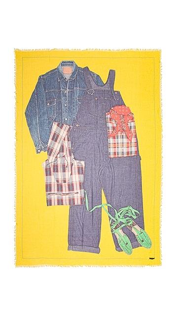 Franco Ferrari Outfit Print Scarf